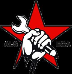 logo van Actief Linkse Studenten